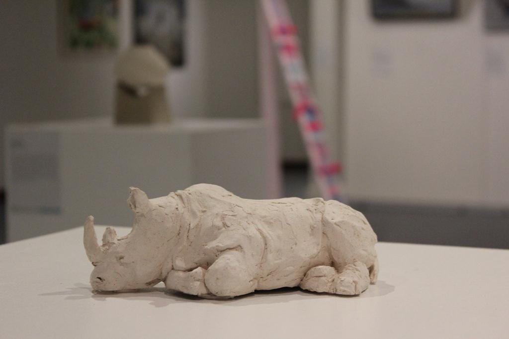 Rhino I by Sallwa Hourani. Georges River Art Prize 2017.