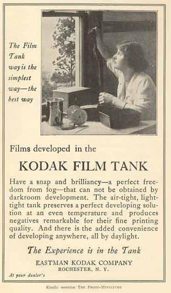 Kodak film tank ad
