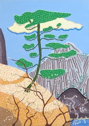Balassa - Jacqueline - Pine tree - yellow mountain - 58 x 41cm